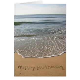 Carte d'anniversaire du rivage du Jersey