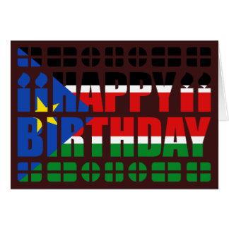 Carte d'anniversaire du sud de drapeau du Soudan