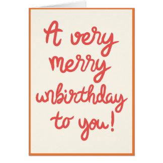 Carte d'anniversaire d'Unbirthday