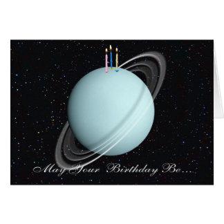 Carte d'anniversaire d'Uranus de planète