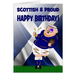 Carte d'anniversaire écossaise et fière de rugby