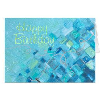 Carte d'anniversaire en verre d'impressions de mer
