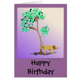 Carte d'anniversaire énervée drôle de chien et