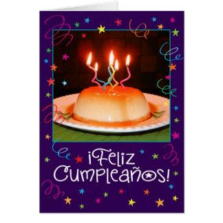 Carte d'anniversaire espagnole/de l'anglais