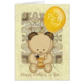 Carte d'anniversaire faite sur commande d'ours de