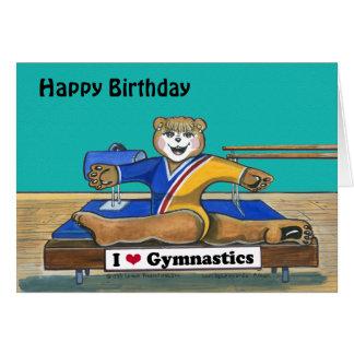Carte d'anniversaire femelle de gymnaste