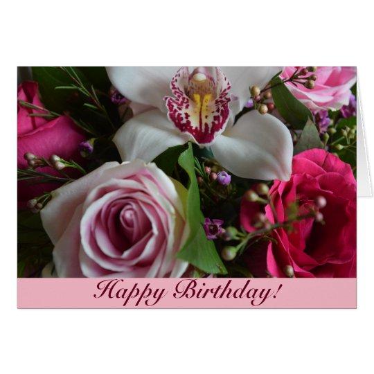 Carte d'anniversaire florale