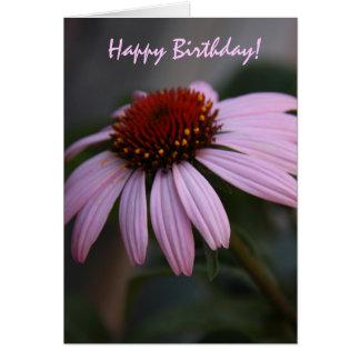 Carte d'anniversaire florale rose gaie
