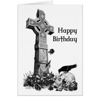 Carte d'anniversaire gothique