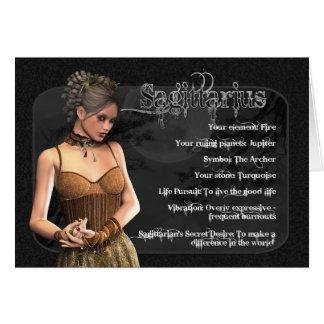 Carte d'anniversaire gothique de zodiaque de