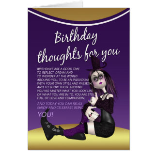 carte d'anniversaire gothique - thaughts