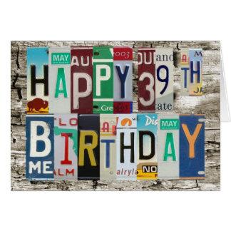 Carte d'anniversaire heureuse de plaques
