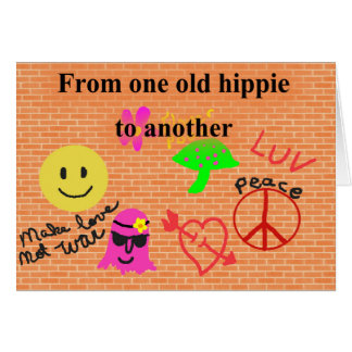 Carte d'anniversaire hippie