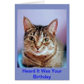 Carte d'anniversaire humoristique