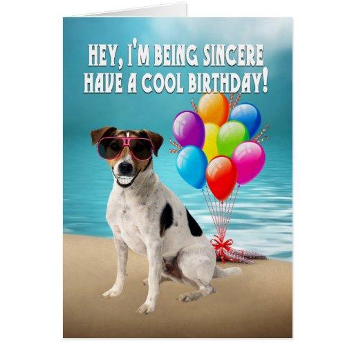 carte d'anniversaire humoristique de dogy - cric h