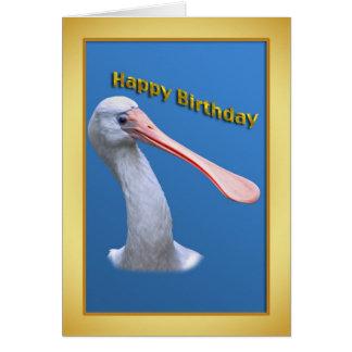 Carte d'anniversaire humoristique de spatule