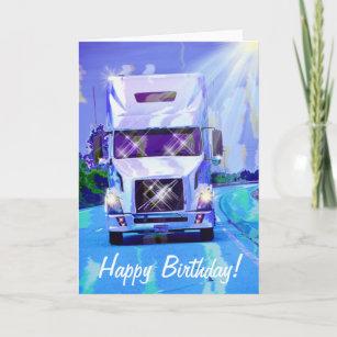 Carte anniversaire chauffeur routier