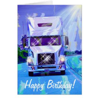 Carte d'anniversaire lourde de Camion-amant de