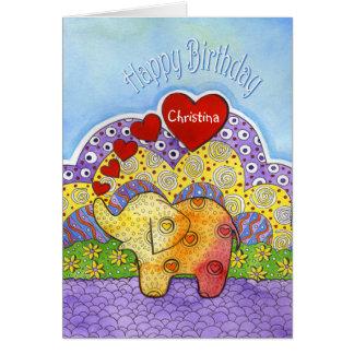 Carte d'anniversaire lunatique de l'enfant