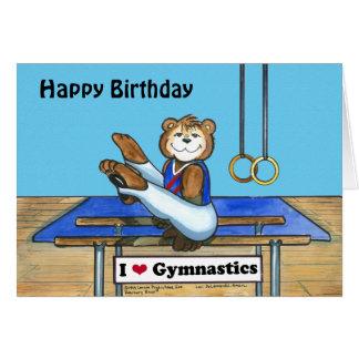 Carte d'anniversaire masculine de gymnaste