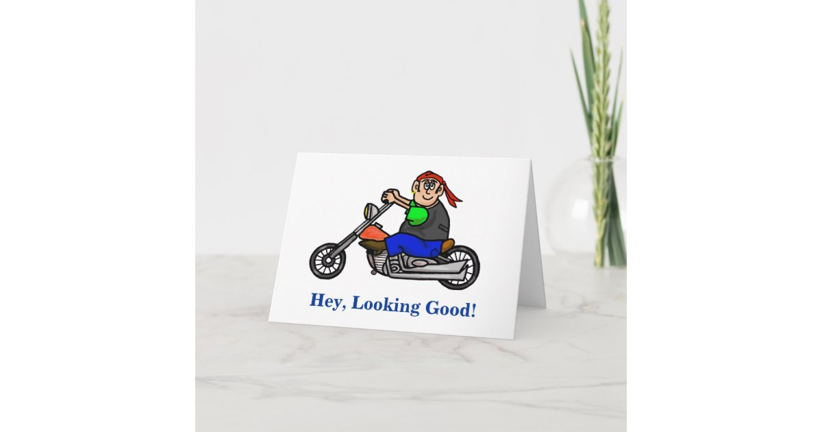 Carte D Anniversaire Masculine De Motard De Moto Zazzle Fr