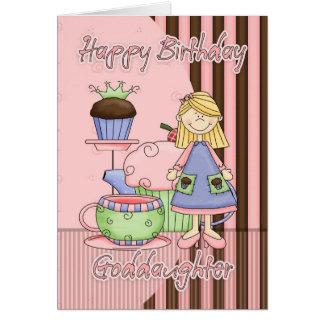 Carte d'anniversaire mignonne de filleule - petits