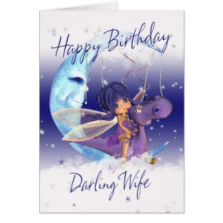 Carte d'anniversaire mignonne d'épouse, dragon