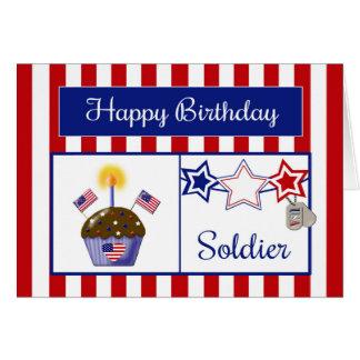 Carte d'anniversaire militaire de soldat