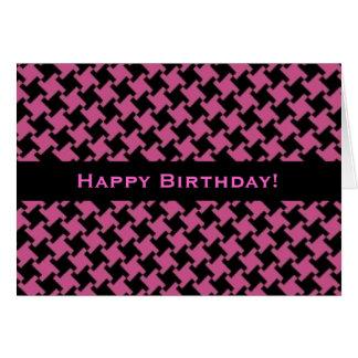 Carte d'anniversaire modelée par pied-de-poule