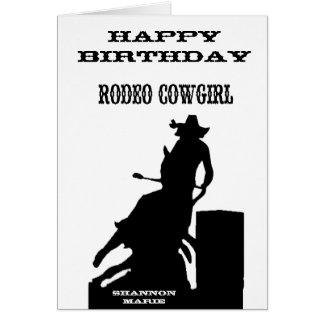 """Carte d'anniversaire occidentale """"de cow-girl de"""