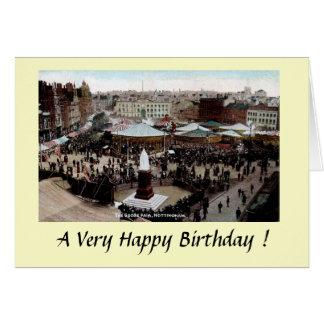 Carte d'anniversaire - oie de Nottingham juste