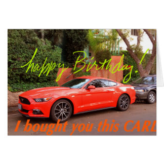 Carte d'anniversaire orange humoristique de