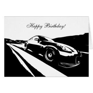 carte d'anniversaire orientée de la voiture 350Z