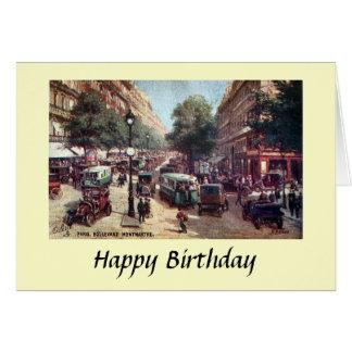 Carte d'anniversaire - Paris, Bd. Monmartre