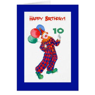 Carte d'anniversaire personnalisable de clown