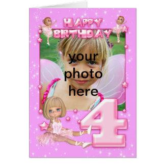 carte d'anniversaire personnalisable de photo de