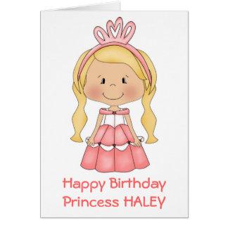 Carte d'anniversaire personnalisée de princesse