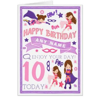 Carte d'anniversaire personnalisée par super héros