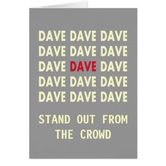 Carte d'anniversaire pour DAVE