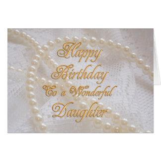 Carte d'anniversaire pour la fille avec des perles