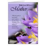 Carte d'anniversaire pour la mère, carte de mère a