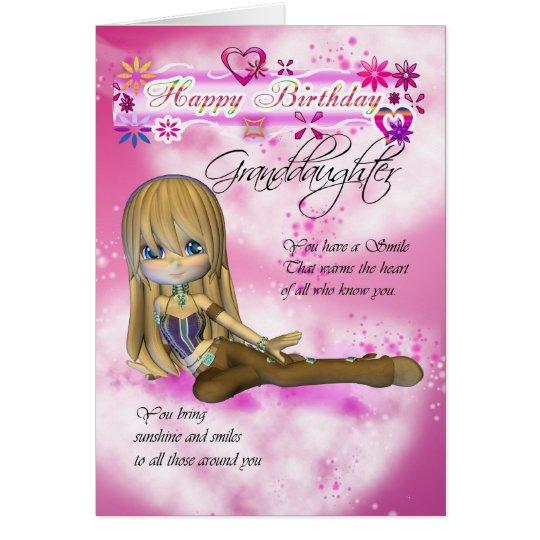 Carte d 39 anniversaire pour la petite fille tarte - Carte anniversaire petite fille ...