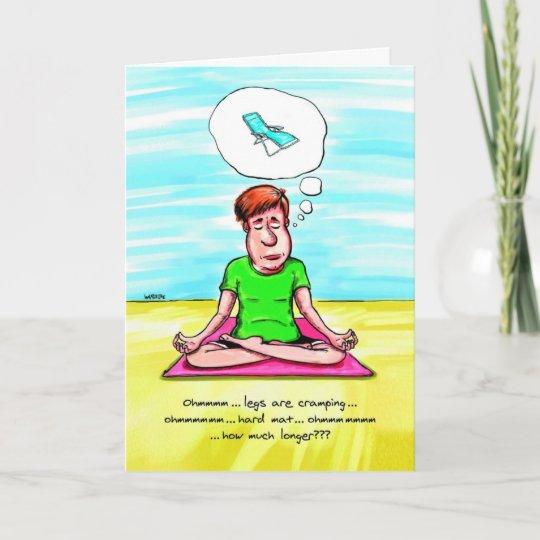 Carte D Anniversaire Pour L Amant De Yoga Chaise