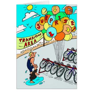 Carte d'anniversaire pour Triathlete - ballons de