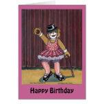 Carte d'anniversaire pour un danseur