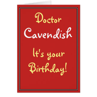 Carte d'anniversaire pour un docteur