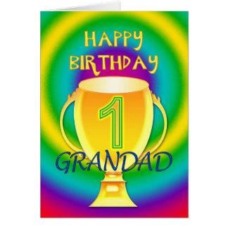 Carte d'anniversaire pour un papy du numéro 1