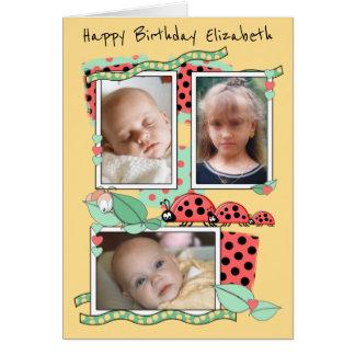 Carte d'anniversaire pour une petite fille ou des