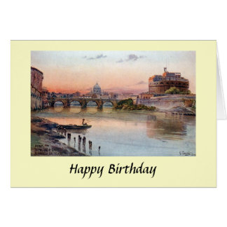 Carte d'anniversaire - Rome, Italie