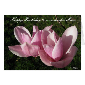 Carte d'anniversaire rose de magnolia